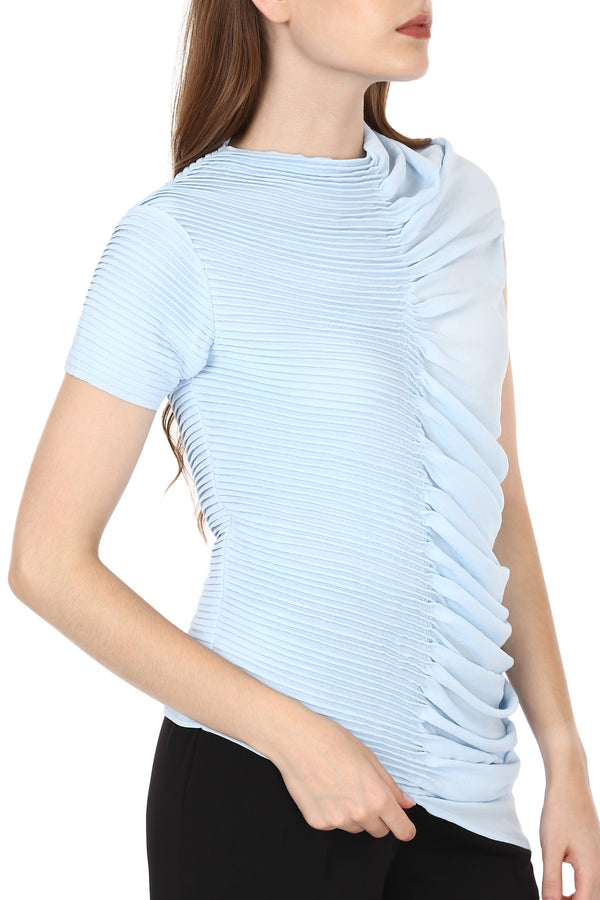 Powder Blue Textured Top