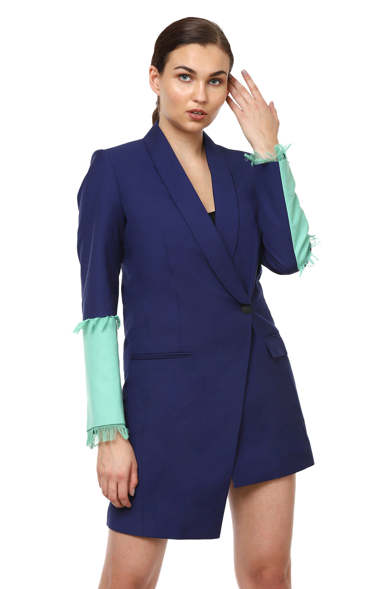 Electric Blue Suit Dress