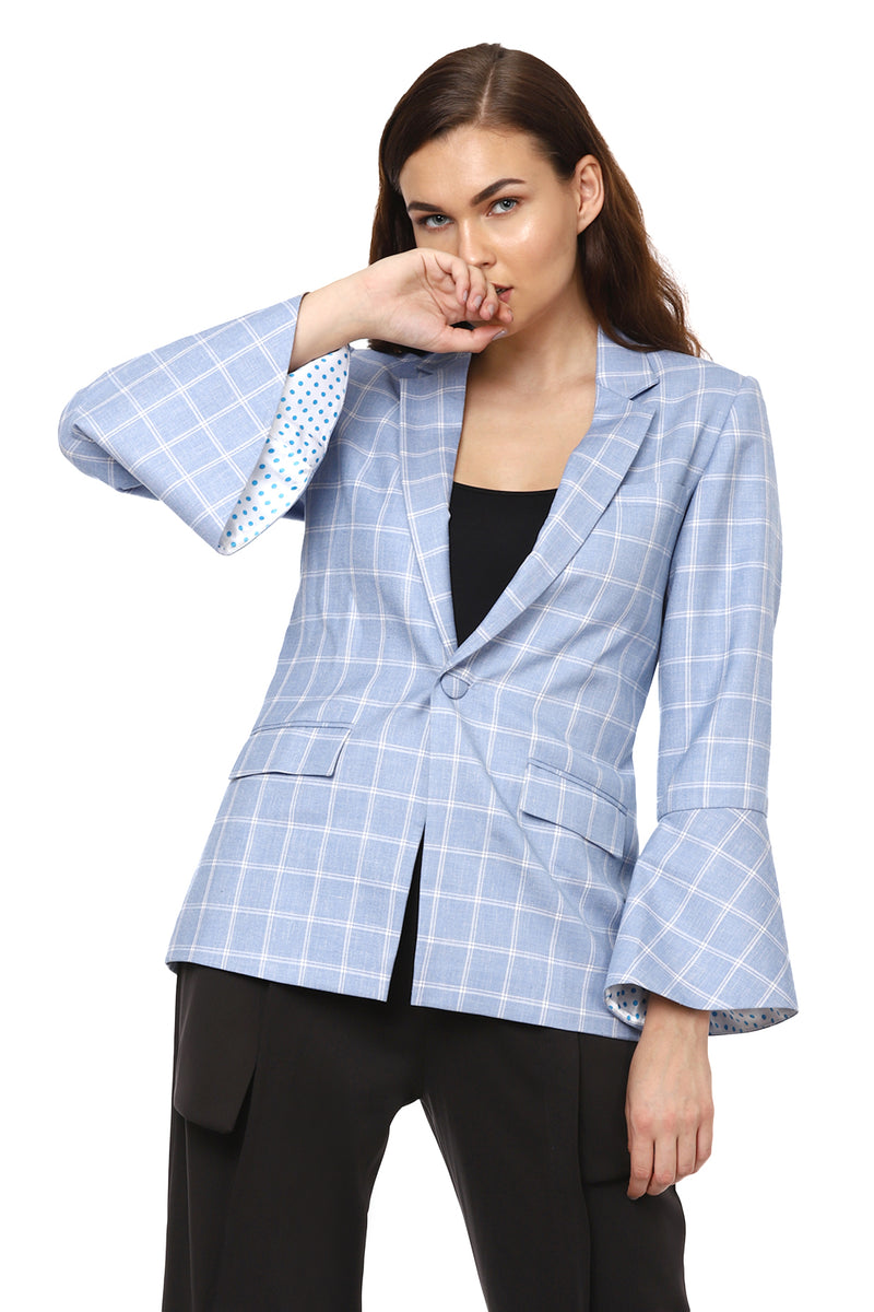 Check Blue Blazer