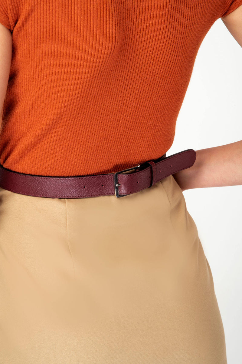 Eccentric: T-Bar High Waist Body Belt - Oxblood