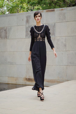 Georgette and lace Jumpsuit