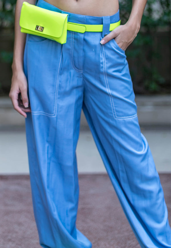TOPSTITCH SLOUCHY PANTS