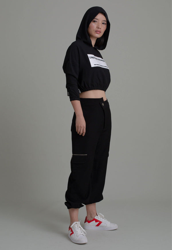 BLACK ASYMMETRIC JOGGERS