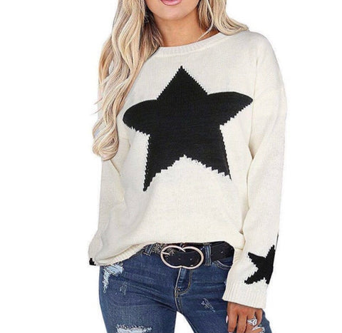 Cream star jumper
