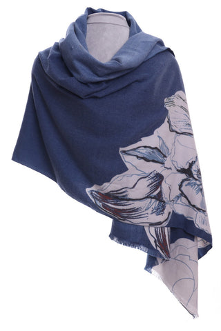 Blue floral Design wrap