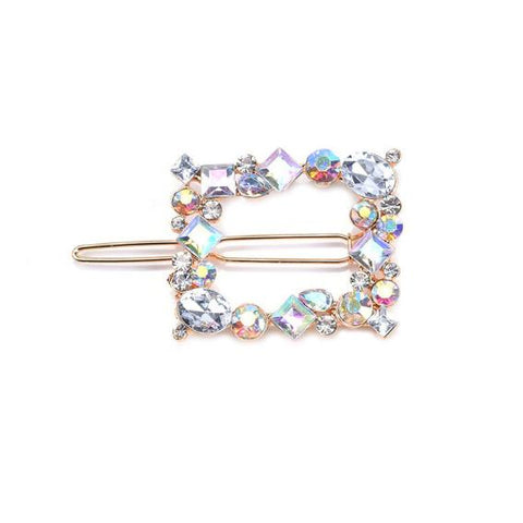 Square gem hair slide