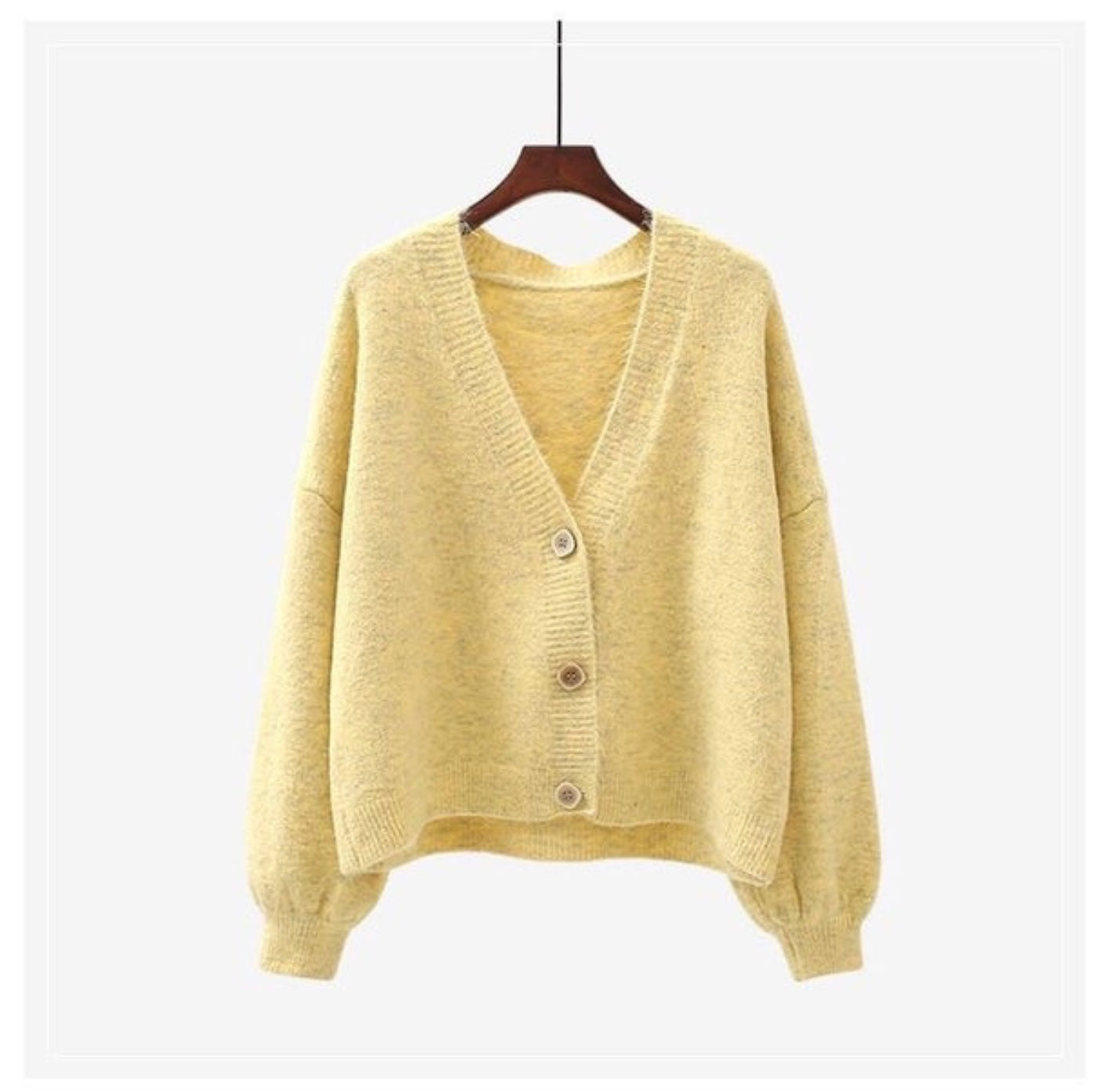 V neck cardigan lemon