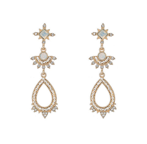 Elegant antique style drop earrings