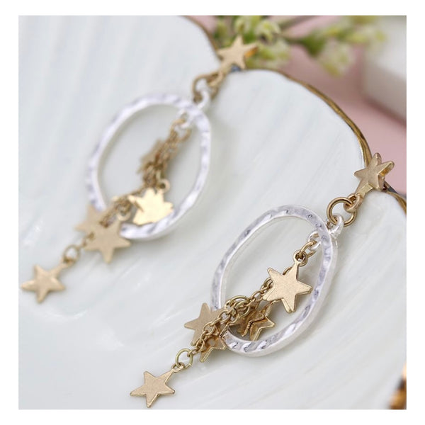 Multi star cluster earring