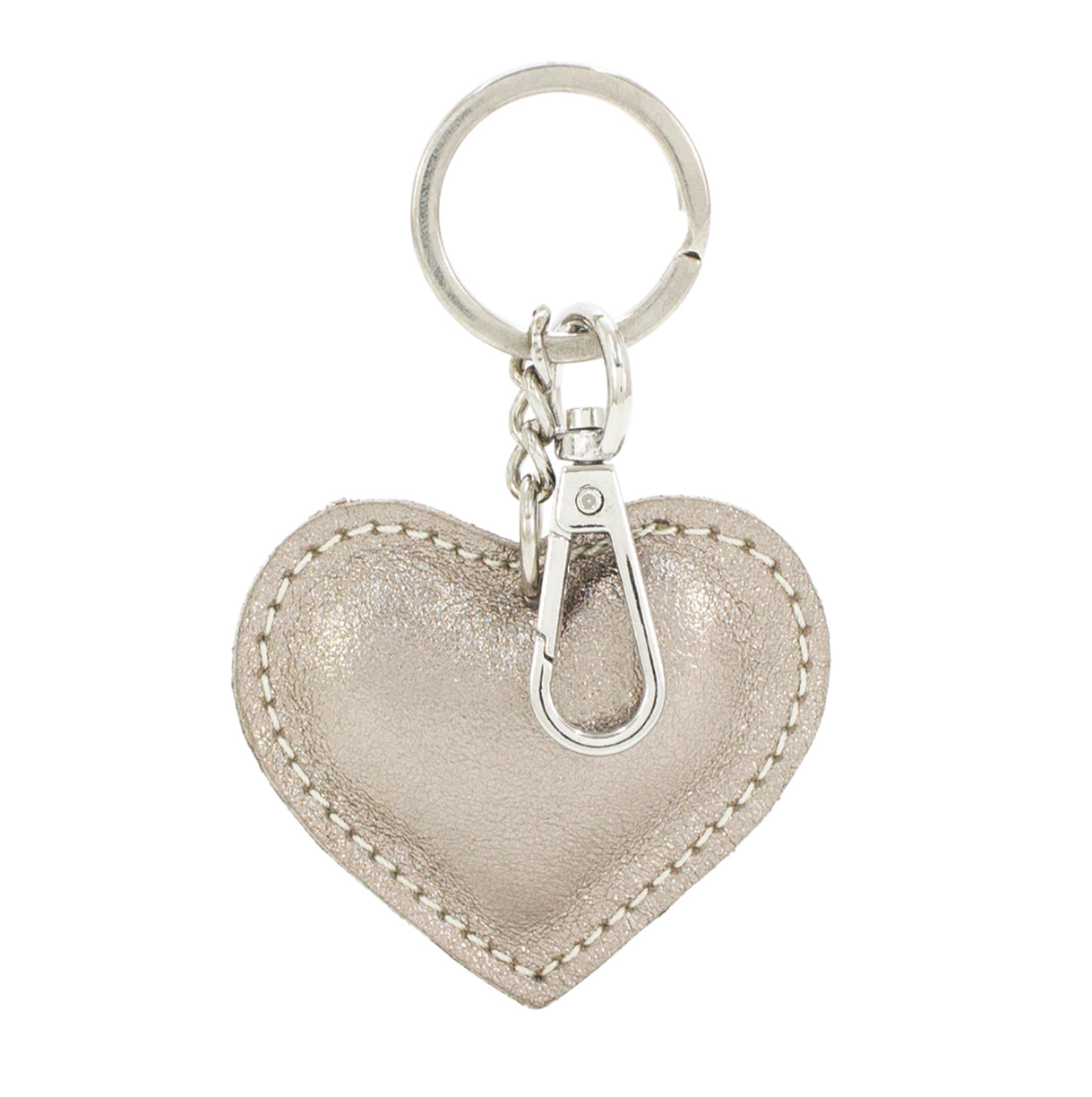 Bronze heart key ring