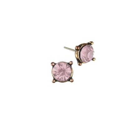 Rose crystal studs