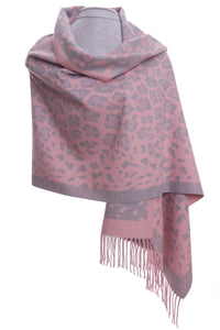 Soft pink and grey wrap