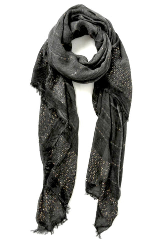 Dark grey and sequin scarf