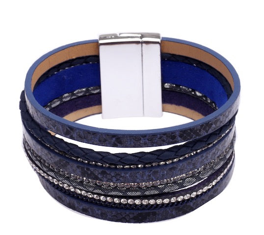 Navy multi detailed bracelet