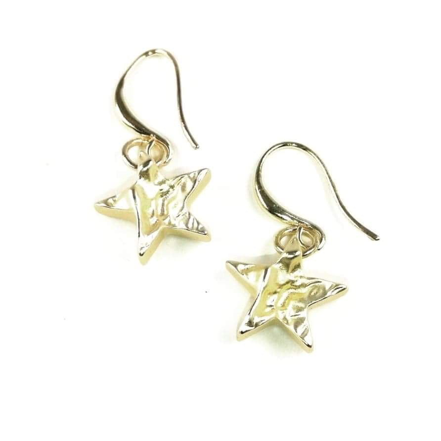 Soft gold star earrings