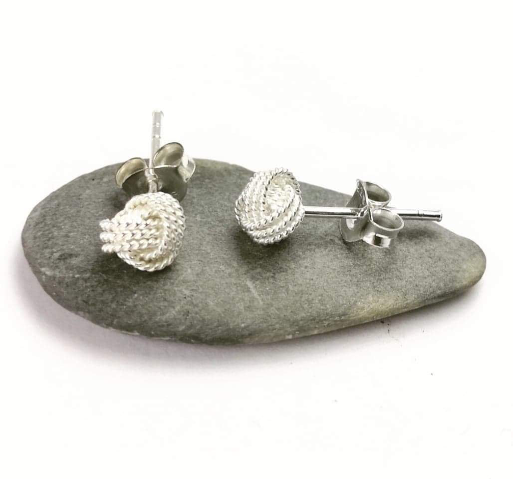 Small Sterling silver knot studs