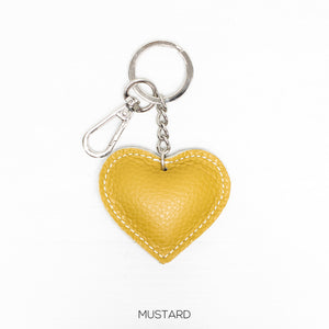 Mustard Heart key ring