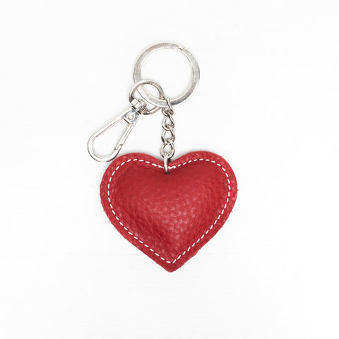 Red heart key ring