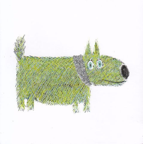 Green dog card