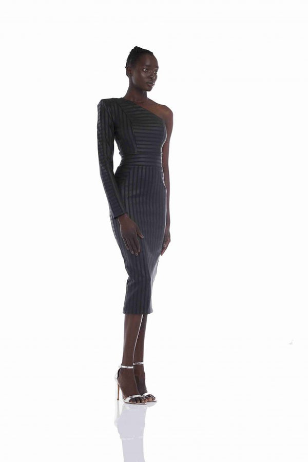 Magnetic Midnight Midi Dress