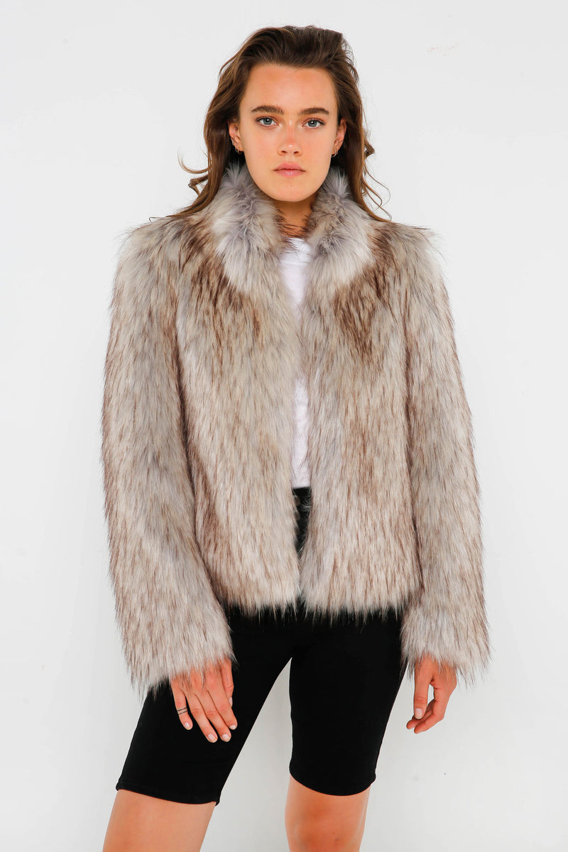 Fur Delish Jacket in Natural