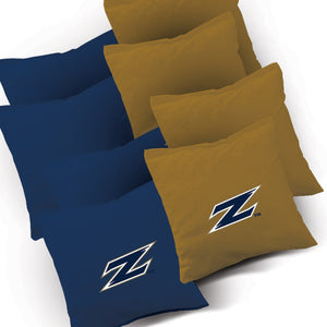 Akron Zips Distressed team logo corn hole bags