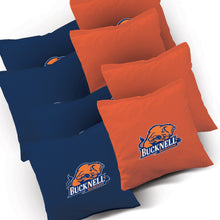 Load image into Gallery viewer, Bucknell Bison Smoke team logo corn hole bags
