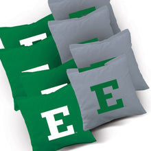 Load image into Gallery viewer, Eastern Michigan Eagles Stripe team logo corn hole bags