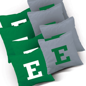 Eastern Michigan Eagles Stripe team logo corn hole bags