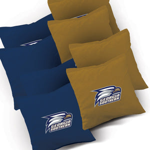 Georgia Southern Smoke team logo corn hole bags