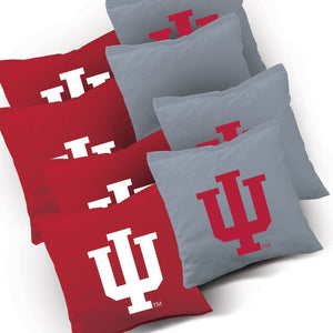 Indiana Hoosier Stained Stripe team logo corn hole bags