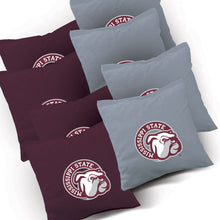 Load image into Gallery viewer, Mississippi State Bulldogs Jersey team logo corn hole bags