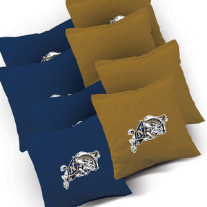 Navy Stained Pyramid team logo bags