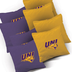 Northern Iowa Panthers Jersey team logo corn hole bags