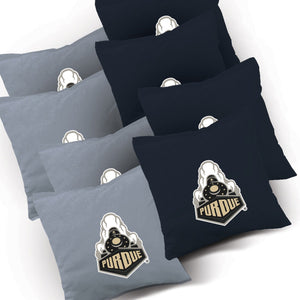 Purdue Boilmakers Stained Pyramid team logo corn hole bags