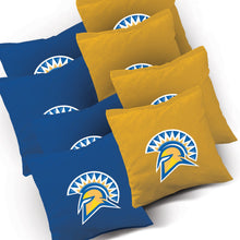 Load image into Gallery viewer, San Jose State Jersey team logo corn hole bags