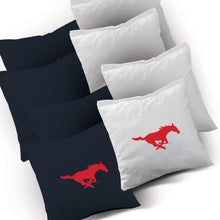 Load image into Gallery viewer, SMU Mustangs Swoosh team logo corn hole bags