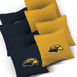 Southern Miss Golden Eagles Distressed team logo corn hole bags