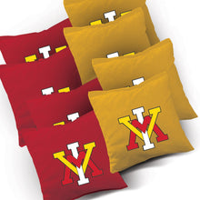 Load image into Gallery viewer, VMI Keydets Stained Pyramid team logo corn hole bags