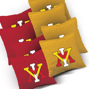 VMI Keydets Stained Pyramid team logo corn hole bags