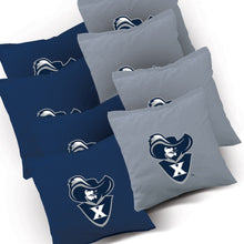 Load image into Gallery viewer, Xavier Muskateers Distressed team logo bags