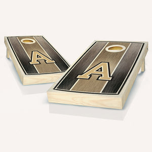 Army Black Knights Stained Striped Cornhole Boards