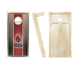 Ball State Cardinals Stained Striped board entire set