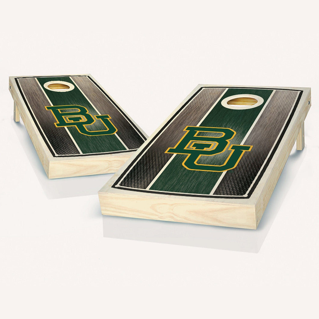 Baylor Bears Stained Striped Cornhole Boards