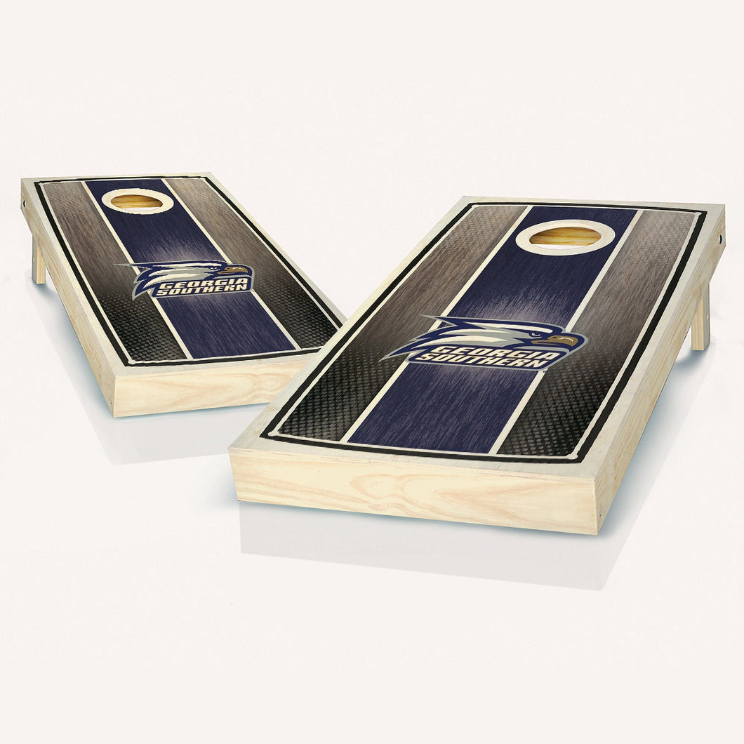Georgia Southern Stained Striped Cornhole Boards