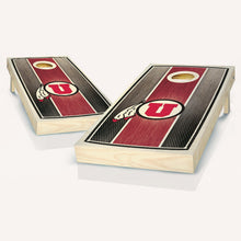 Load image into Gallery viewer, Utah Utes Stained Stripe Cornhole Boards