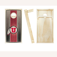 Load image into Gallery viewer, Utah Utes Stained Stripe entire board picture