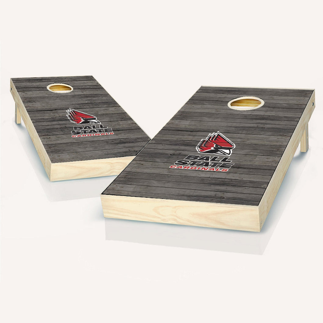 Ball State Cardinals Distressed Cornhole Boards