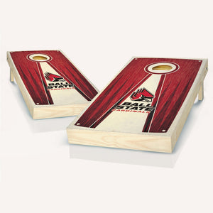 Ball State Cardinals Stained Pyramid Cornhole Boards