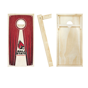 Ball State Cardinals Stained Pyramid board entire set